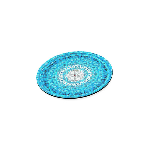 Protection from Jerusalem in blue Round Coaster