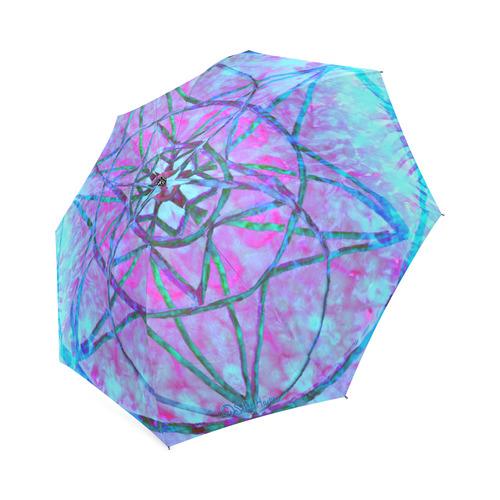 protection through an indigo wave Foldable Umbrella (Model U01)