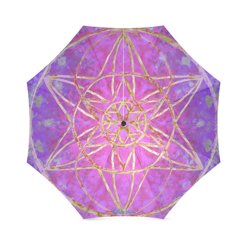 protection in purple colors Foldable Umbrella (Model U01)