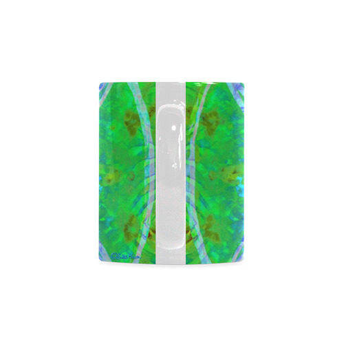 protection in nature colors-teal, blue and green White Mug(11OZ)