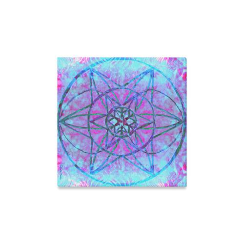 """protection through an indigo wave Canvas Print 12""""x12"""""""