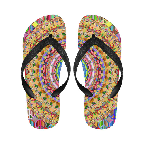 Peace Mandala Flip Flops for Men/Women (Model 040)