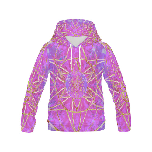 protection in purple colors All Over Print Hoodie for Women (USA Size) (Model H13)