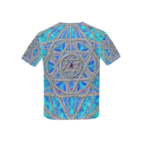 protection in blue harmony Kids' All Over Print T-shirt (USA Size) (Model T40)