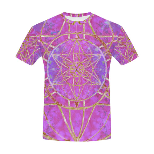 protection in purple colors All Over Print T-Shirt for Men (USA Size) (Model T40)