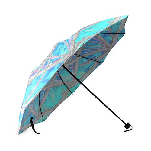protection in blue harmony Foldable Umbrella (Model U01)