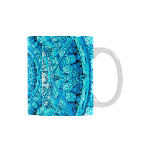 Protection from Jerusalem in blue White Mug(11OZ)