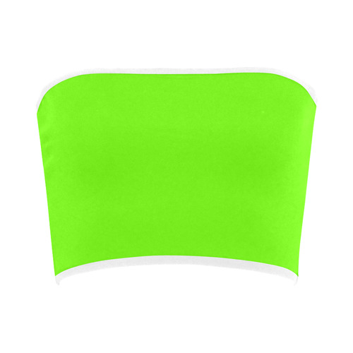 8ce3c5c978b95 Super Bright Fluorescent Green Neon   White Bandeau Top