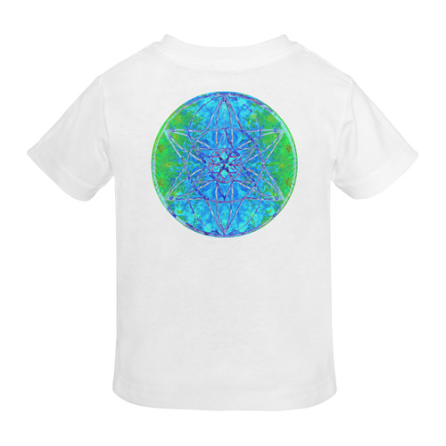 protection in nature colors-teal, blue and green Sunny Youth T-shirt (Model T04)