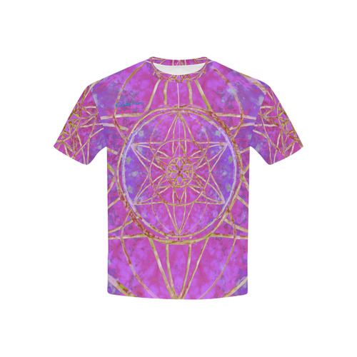 protection in purple colors Kids' All Over Print T-shirt (USA Size) (Model T40)