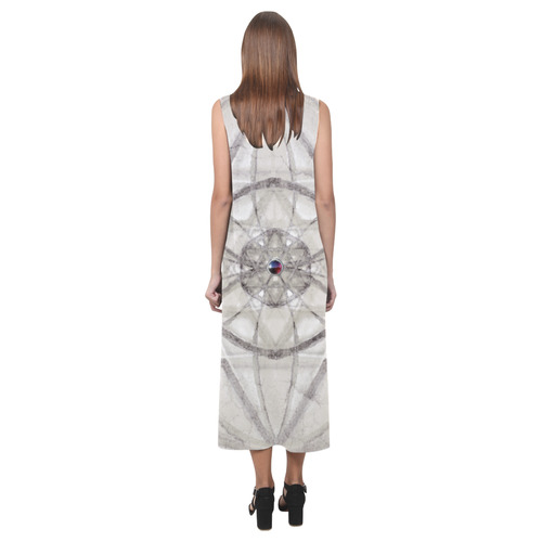protection through fundamental mineral energy Phaedra Sleeveless Open Fork Long Dress (Model D08)