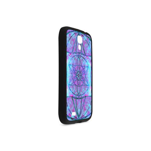 protection through an indigo wave Rubber Case for Samsung Galaxy S4
