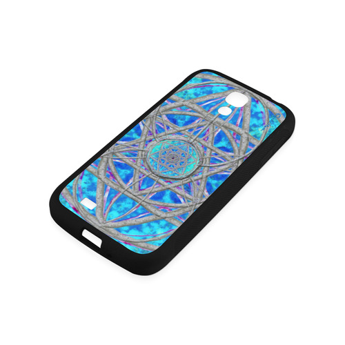 protection in blue harmony Rubber Case for Samsung Galaxy S4