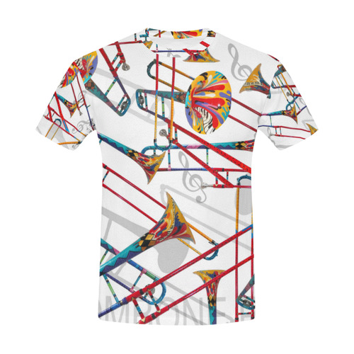 Colorful Trombone T shirt By Juleez All Over Print T-Shirt for Men (USA Size) (Model T40)