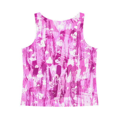 Pink Grunge Love All Over Print Tank Top for Women (Model T43)