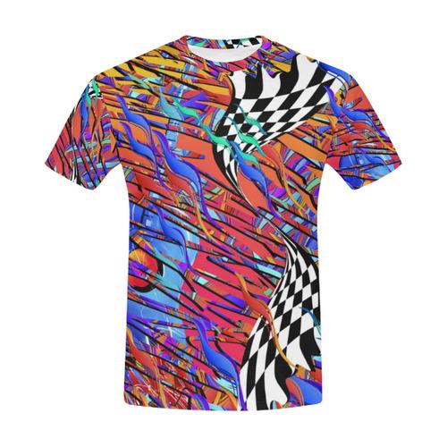 Guitar T Shirt HOT Shredded Strat Electric Guitar All Over Print T-Shirt for Men (USA Size) (Model T40)