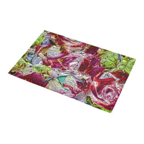 Floral glossy  Chrome 01C by FeelGood Bath Rug 16''x 28''
