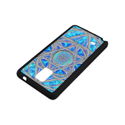 protection in blue harmony Rubber Case for Samsung Galaxy Note 4
