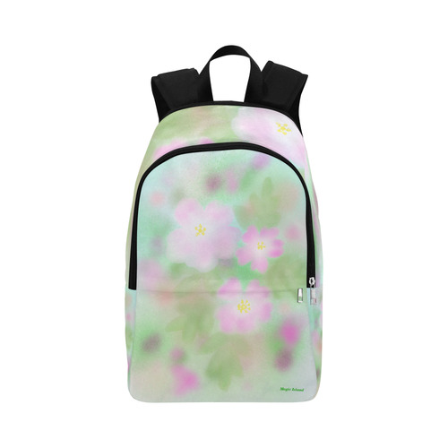Pink Wild Roses. Inspired by the Magic Island of Gotland. Fabric Backpack for Adult (Model 1659)