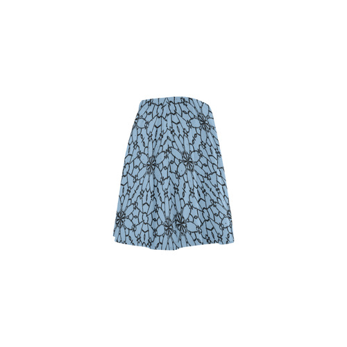 Airy Blue Lace Mini Skating Skirt (Model D36)