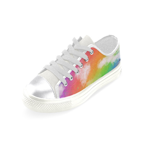 Rainbow Love. Inspired by the Magic Island of Gotland. Women's Classic Canvas Shoes (Model 018)