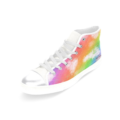 Rainbow Love. Inspired by the Magic Island of Gotland. Women's Classic High Top Canvas Shoes (Model 017)