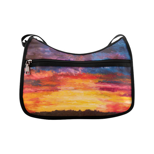 Autumn Sunset Crossbody Bags (Model 1616)