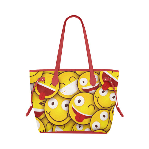53be4099908 I Love Your Smile Emojis Clover Canvas Tote Bag (Model 1661)
