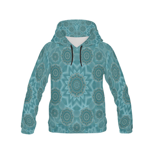 Wood and stars in the blue pop art All Over Print Hoodie for Men (USA Size) (Model H13)