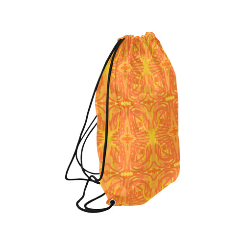 "Orange and Yellow Tribal Butterflies 9059 Medium Drawstring Bag Model 1604 (Twin Sides) 13.8""(W) * 18.1""(H)"