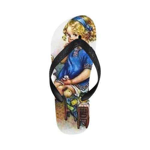 Tea Time New Flip Flops for Men/Women (Model 040) (Both Customized)