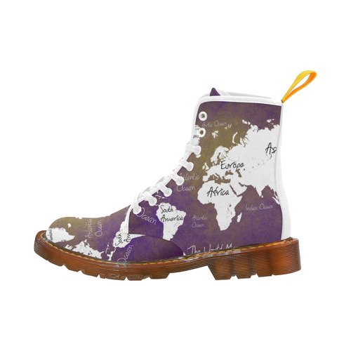 world map Martin Boots For Women Model 1203H