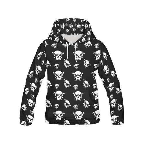 Skull Boys All Over Print Hoodie for Women (USA Size) (Model H13)