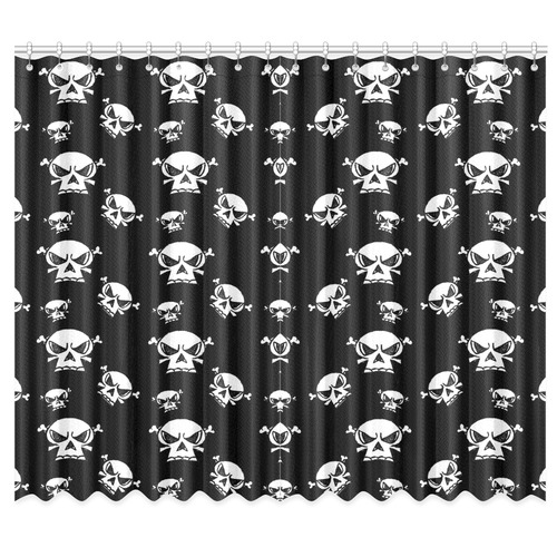"Skull Boys Window Curtain 50""x84""(Two Piece)"