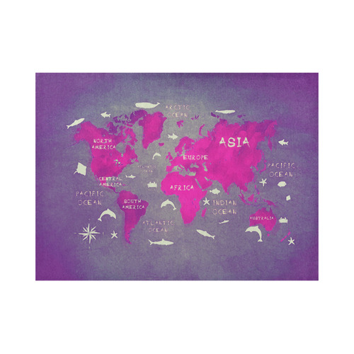 world map Placemat 14'' x 19'' (Two Pieces)