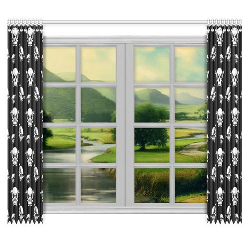 "Skull Boys Window Curtain 50""x84""(Two Piece)"