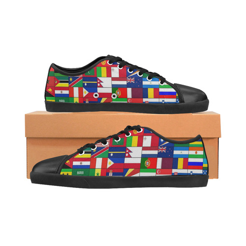 WORLD FLAGS 2 Women's Canvas Shoes (Model 016)