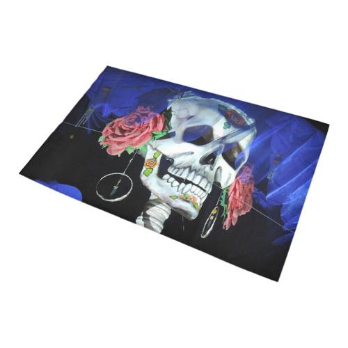 Sugar Skull and Roses Bath Rug 20''x 32''