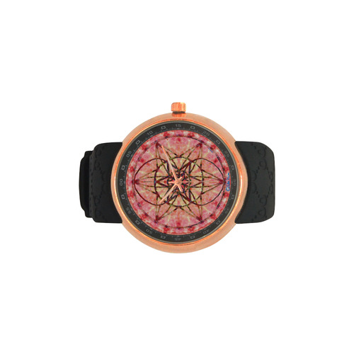 protection- vitality and awakening by Sitre haim Men's Rose Gold Resin Strap Watch(Model 308)