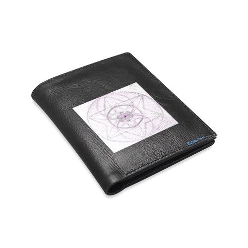 Protection- transcendental love by Sitre haim Men's Leather Wallet (Model 1612)
