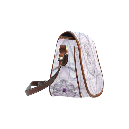 Protection- transcendental love by Sitre haim Saddle Bag/Small (Model 1649) Full Customization