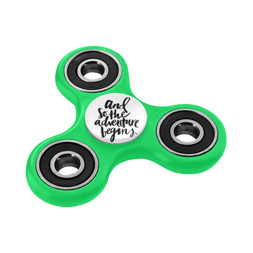 And So, the Adventure Begins (green) Fidget Spinner