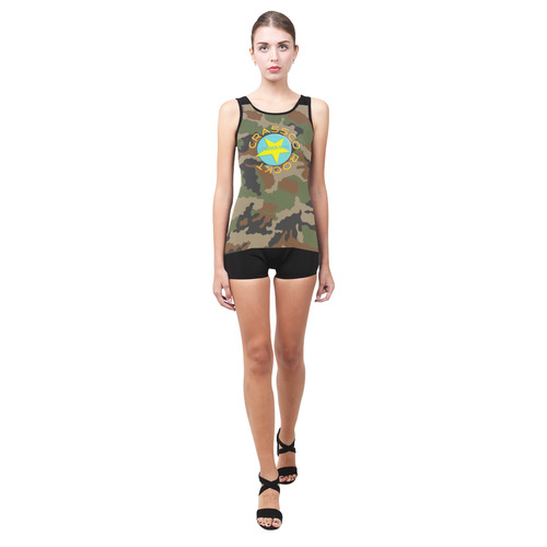 CAMOUFLAGE CRASSCO ROCKT Classic One Piece Swimwear (Model S03)