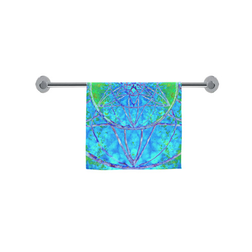 """protection in nature colors-teal, blue and green Custom Towel 16""""x28"""""""