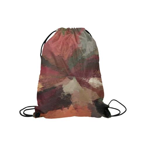 "Autumn Radials by khoncepts.com Medium Drawstring Bag Model 1604 (Twin Sides) 13.8""(W) * 18.1""(H)"