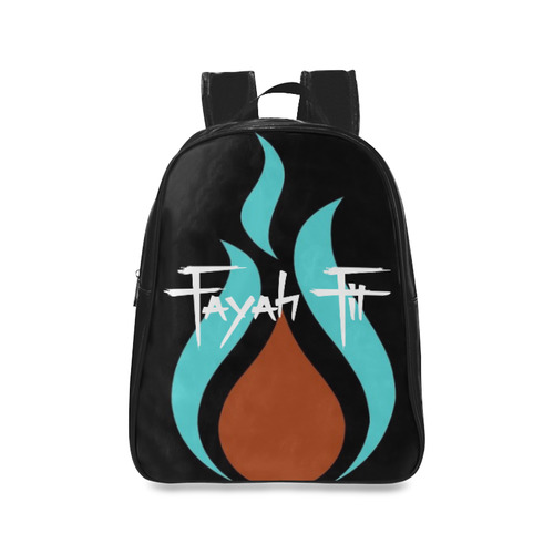 Fayah Fit Black logo School Backpack Large (Model 1601)  a027273c440d5