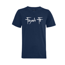 Fayah Fit Blue Men s V-Neck T-shirt (USA Size) (Model 2988d68379154