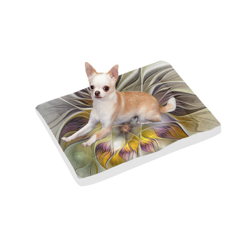 """Abstract Colorful Fantasy Flower Modern Fractal Pet Bed 30""""x21"""""""