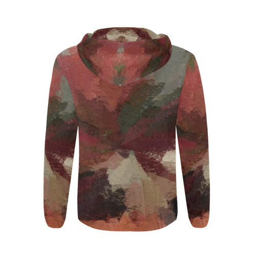 Autumn Radials by khoncepts.com All Over Print Full Zip Hoodie for Men (Model H14)
