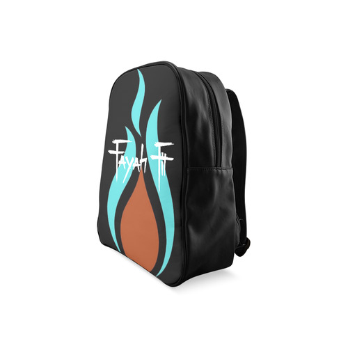 ... Fayah Fit Black logo School Backpack Large (Model 1601) ... c11b8727d5199